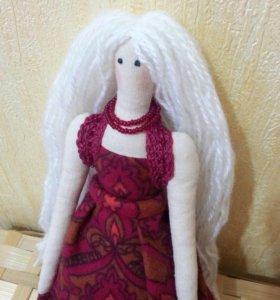 Кукла Тильда - зеленоглазая блондинка 💃🏼