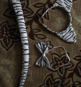 Костюм (ушки, хвостик, бабочка)
