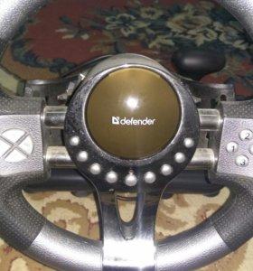 Руль игровой Defender Forsage GTR