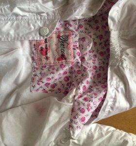 Ветровка и кофточка для девочки на рост 104