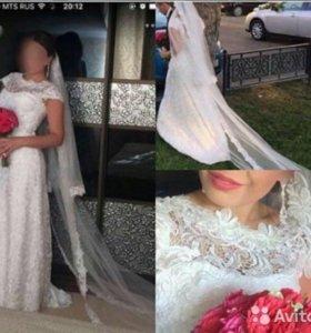 Гипюровое свадебное платье