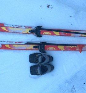 Лыжи палки ботинки (комплект)