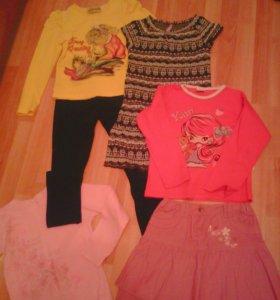 Много вещей для девочки 8-10 лет