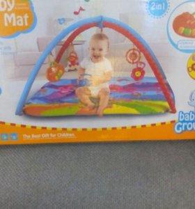 Развивающий коврик и игрушка на коляску