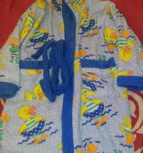 Детский халат с уточками