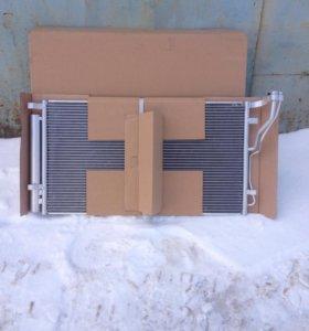 Радиатор кондиционера на хундай I 40