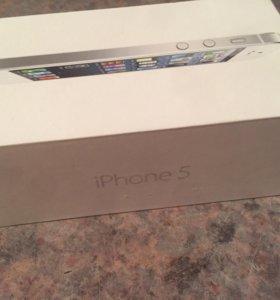 Коробка от iPhone 5 оригинальная