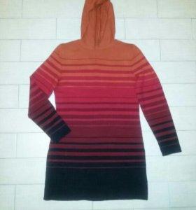 Теплое платье р46