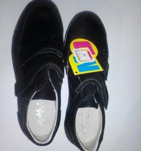 Туфли новые кожаные на мальчика