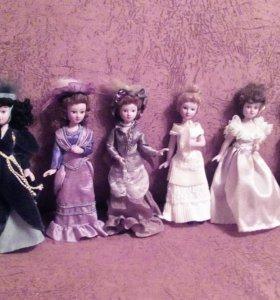 Кукла с журналом коллекция фарфоровые
