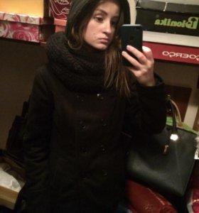 Весенне-осеннее пальто с капюшоном