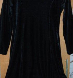 Платье черный бархат