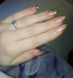 Наращивание ногтей и покрытие своих !!!