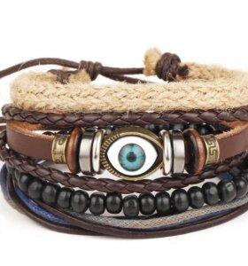 Кожаные браслеты . Unisex