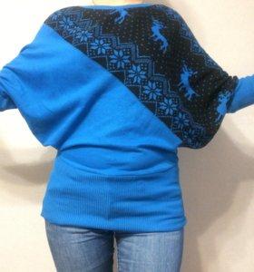 Оригинальный свитер с оленями