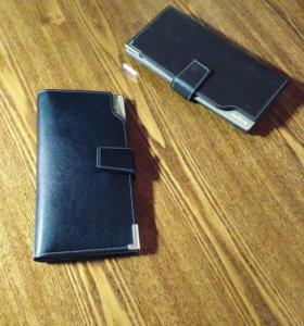 Унисекс бумажник клатч визитница люкс из кожи