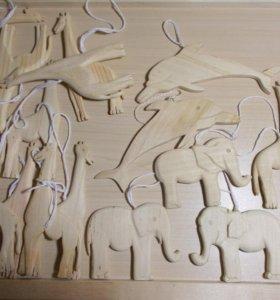 Заготовки деревянные ёлочные игрушки декупаж