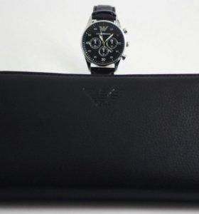 Часы Armani + Портмоне Armani