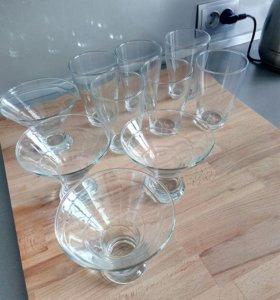 Набор стаканы и креманки
