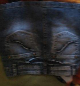 Юбки джинсовые(2штуки)