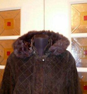 Куртка зимняя натуральная замша
