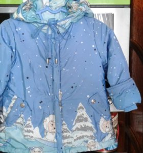Теплая курточка девочке р.86