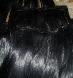 Волосы искуственные на заколках
