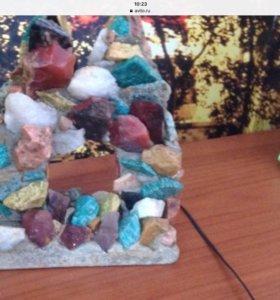 Грот для рыб из натурального камня