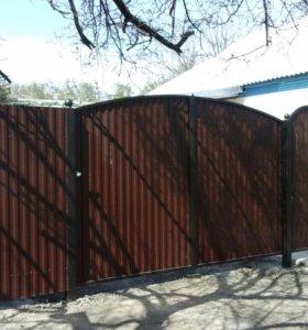 Укладка плитки, установка ворот