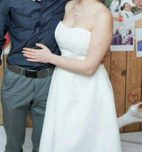 Платье свадебное Davids Bridal короткое