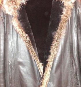 Куртка кожаная осень-зима