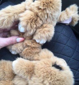 Кролики брелки крупные, пушистые