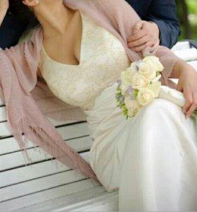 Свадебное платье 48-50 р-р (L-XL)