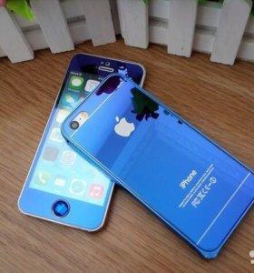 Защитные стекла для iPhone 4/4S/5/5S/SE blue