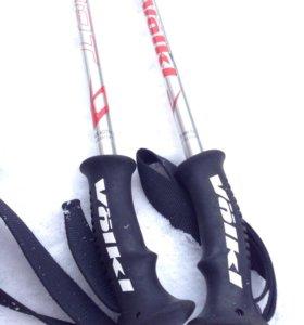 Комплект:  Горные лыжи. ботинки. палки.