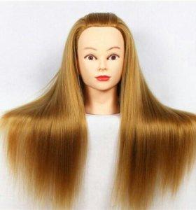 Голова манекен с протеиновыми волосами
