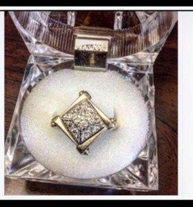 Золотое Кольцо с Бриллиантами Перамида