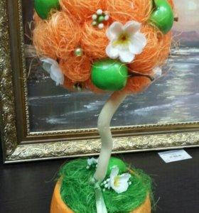 """Топиария """"Дерево счастья-Яблоко"""""""