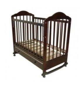 Кроватка детская качалка со шкафчиком.