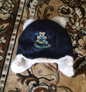 Детская шапка зимняя и футболка для мальчика
