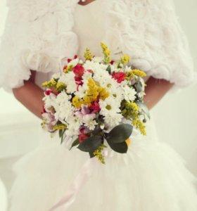 Накидка свадебная натур.мех
