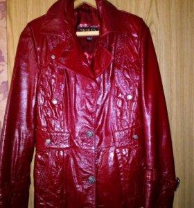 Куртка из натуральной кожи(лакированная)