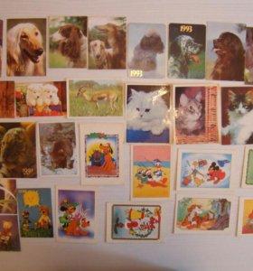 Продаю коллекцию календариков(маленькие)