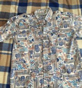 Шелковая мужская рубашка новая 52-54