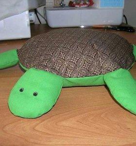 Игрушка подушка в виде черепахи