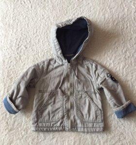 Осенняя куртка на флисе 1-3 года