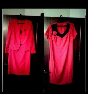 Платье и пиджак 54р-56