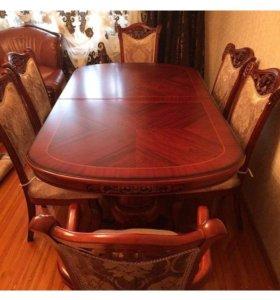 Мебель ,стол и 6 стульев