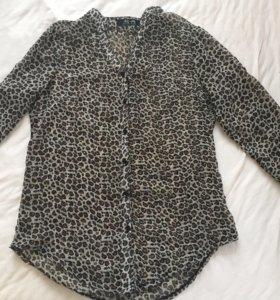 Блузка леопард, размер S-XS