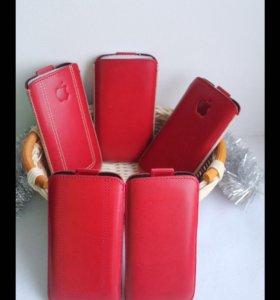 Чехлы кожаные для Iphone